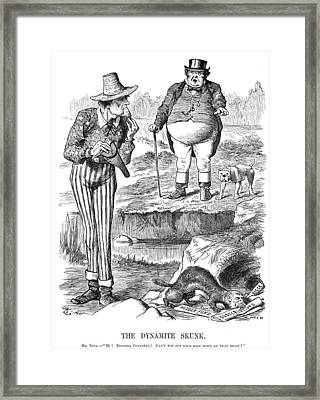 Terrorism Cartoon, 1884 Framed Print