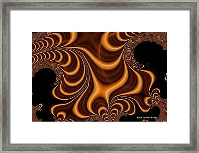 Terry Badlands Fractal Ridge Framed Print