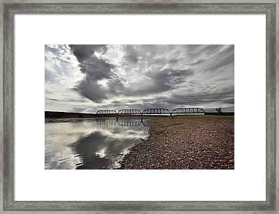 Terry Bridge Framed Print by Leland D Howard