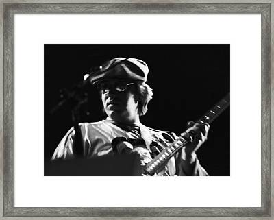 Terry Kath At The Cow Palace In 1976 Framed Print by Ben Upham
