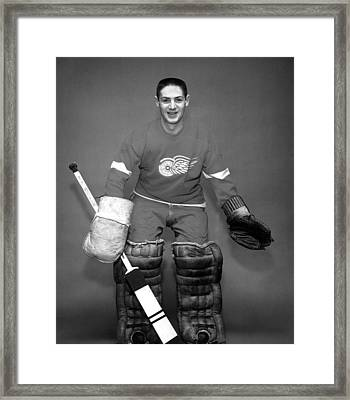 Terry Sawchuk Portrait Poster Framed Print by Gianfranco Weiss