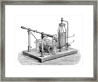 Tesla High-frequency Condenser Framed Print by Science Photo Library