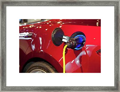 Tesla Model S Electric Sports Car Framed Print by Jim West