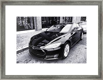 Tesla Model S Framed Print
