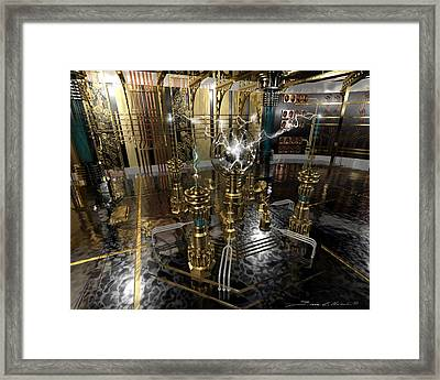 Tesla Power Generator Framed Print