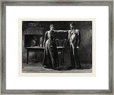 Tess Of The Durbervilles He Laid His Hand On Her Shoulder Framed Print by English School