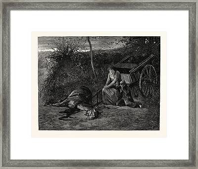 Tess Of The Durbervilles In Stagnant Blackness They Waited Framed Print