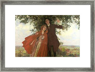 Tess Of The D'urbervilles Or The Elopement Framed Print by William Hatherell