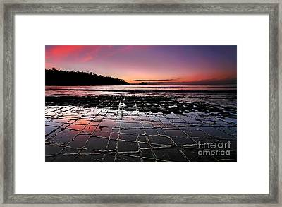 Tesselated Pavement Sunrise Framed Print by Bill  Robinson