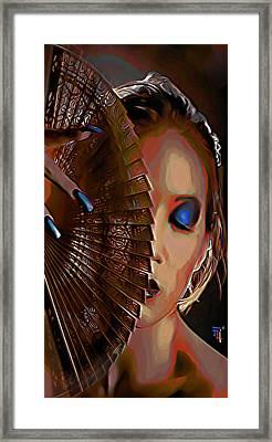 Tessen Phone Case Framed Print by  Fli Art