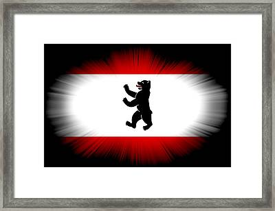 City Of Berlin Flag Framed Print by Daniel Hagerman