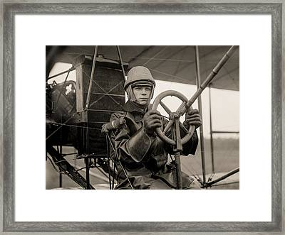 Test Of A Curtiss Plane Circa 1912 Framed Print by Aged Pixel