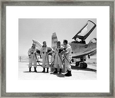 Test Pilots And Northrop Hl-10 Framed Print by Nasa