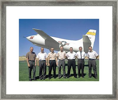 Test Pilots And X-1e Aircraft, 1962 Framed Print by Science Photo Library