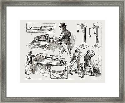 Testing Bayonets And Cavalry Swords At The Royal Small Arms Framed Print