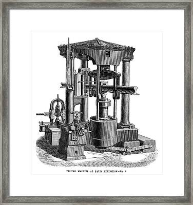 Testing Machine, 1878 Framed Print by Granger