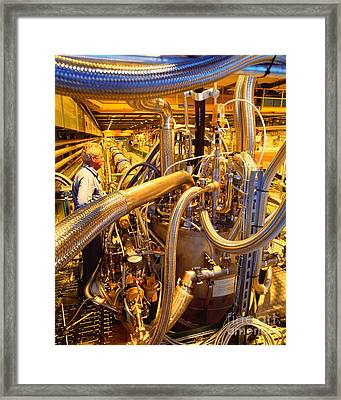Testing Magnets For The Large Hadron Framed Print by David Parker