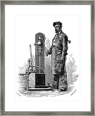 Testing Pumps Framed Print