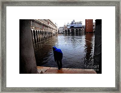 Testing The Waters Framed Print by Jacqueline M Lewis
