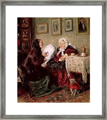 Tete A Tete Framed Print by Vladimir Egorovic Makovsky