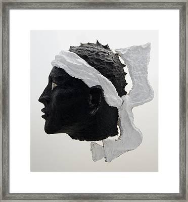 Tete De Maure - Papier Mache Framed Print by Christian V Stanescu