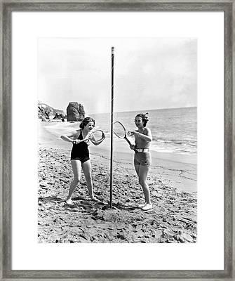 Tetherball On The Beach Framed Print