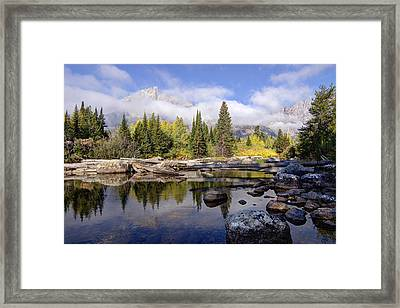 Teton Autumn Framed Print by Jeremy Farnsworth