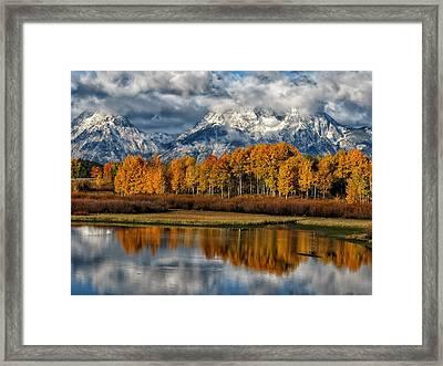 Teton Autumn Framed Print