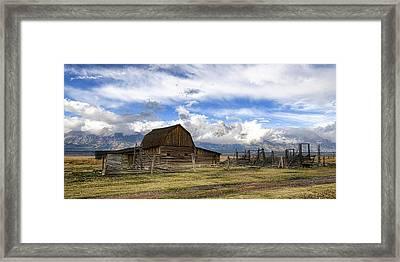 Teton Barn 2 Framed Print