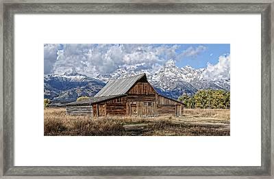 Teton Barn 3 Framed Print