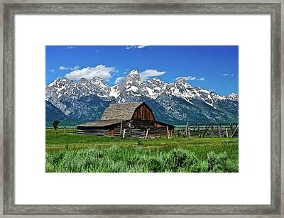 Teton Barn Framed Print by Greg Norrell