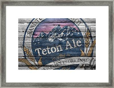 Teton Brewing Framed Print