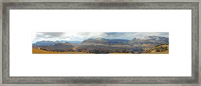 Teton Canyon Shelf Framed Print by Raymond Salani III