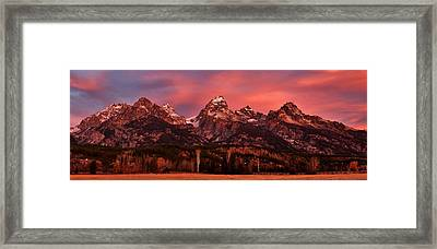 Framed Print featuring the photograph Teton Color by Benjamin Yeager