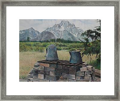 Teton Cook Site Framed Print by Scott Kingery