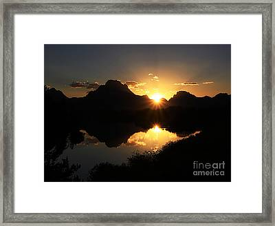 Framed Print featuring the photograph Teton Double Star by Clare VanderVeen
