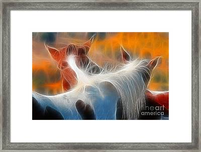 Framed Print featuring the photograph Teton Horses by Clare VanderVeen
