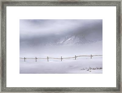 Framed Print featuring the photograph Teton Morning by Priscilla Burgers