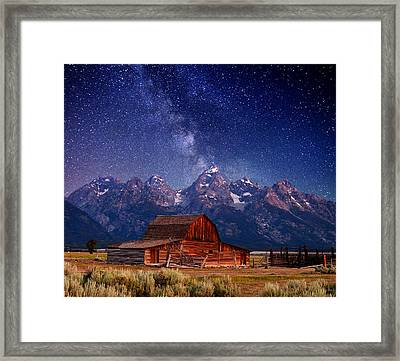 Teton Nights Framed Print by Darren  White