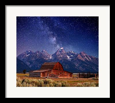 White Barn Framed Prints
