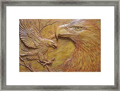 Teton Pair Framed Print by Jeremiah Welsh
