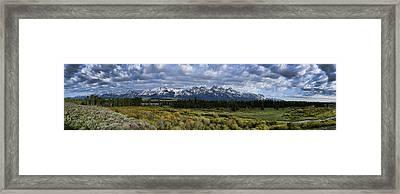 Teton Panorama Framed Print