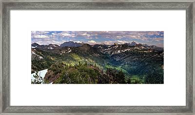 Teton Panoramic Framed Print
