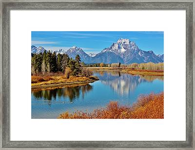 Teton Tranquility Framed Print by Benjamin Yeager