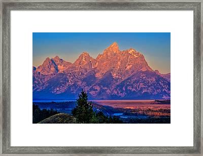 Teton Peaks Framed Print