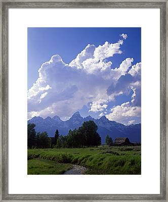Teton Ranch Afternoon Framed Print by Mike Norton