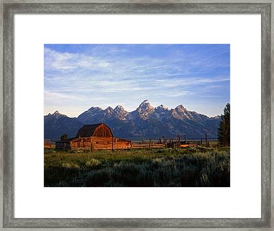 Teton Ranch Autumn Framed Print by Mike Norton