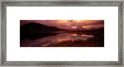 Teton Range, Mountains, Grand Teton Framed Print