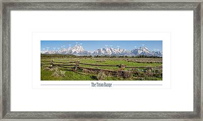 Teton Range With Peak Labels Framed Print by Aaron Spong