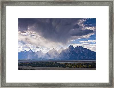 Teton Storm Framed Print by Mark Kiver